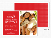 Beautiful Holiday Red Christmas Photo Cards