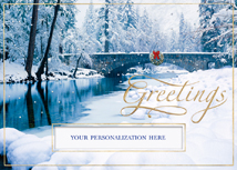 Blissfully Bridged Holiday Cards